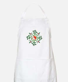 Zen Christmas Wreath BBQ Apron
