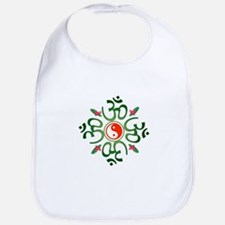 Zen Christmas Wreath Bib