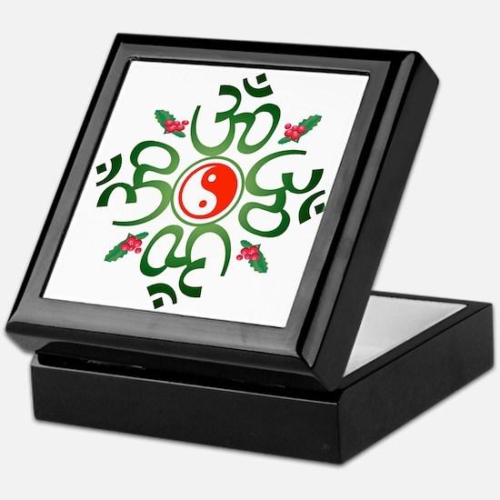 Zen Christmas Wreath Keepsake Box