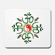 Zen Christmas Wreath Mousepad