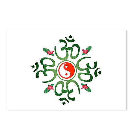 Zen Christmas Wreath Postcards (Package of 8)