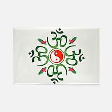 Zen Christmas Wreath Rectangle Magnet