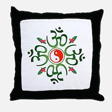 Zen Christmas Wreath Throw Pillow