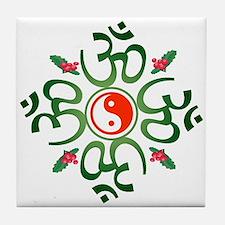 Zen Christmas Wreath Tile Coaster
