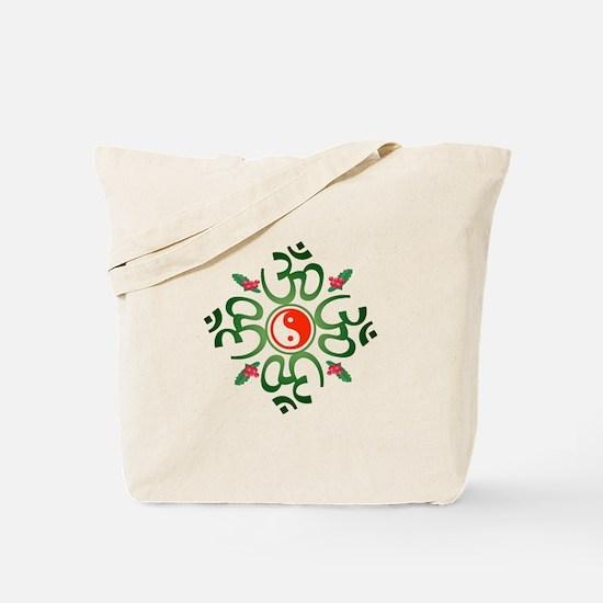 Zen Christmas Wreath Tote Bag
