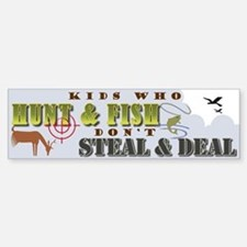 Kids Who Hunt... Bumper Bumper Bumper Sticker
