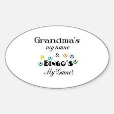 Grandma and Bingo Oval Decal