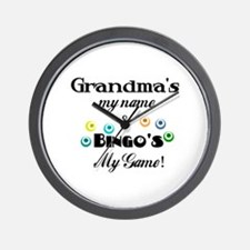 Grandma and Bingo Wall Clock