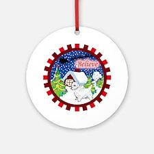 Believe Westie Ornament (Round)