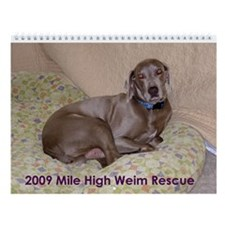 2009 Mile High Weim Rescue Calendar