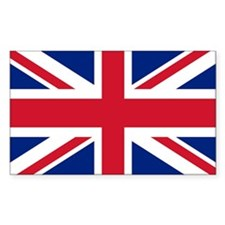 Great Britian Union Jack Rectangle Decal