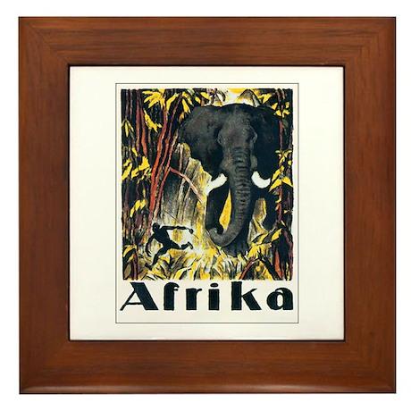 Afrika Africa Framed Tile