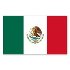 Mexican Flag Rectangle Decal