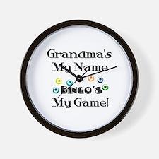 Grandma and Bingo Wall Clock