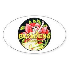 Pasadena California Oval Decal