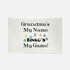 Grandma and Bingo Rectangle Magnet