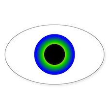 Green Eyeball Oval Decal