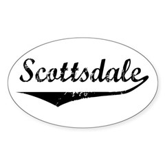 Scottsdale Oval Decal