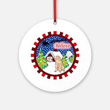 Believe Shar-Pei Ornament (Round)