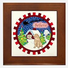 Believe Shar-Pei Framed Tile