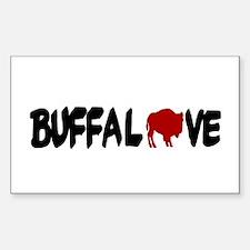 Buffalove Rectangle Bumper Stickers