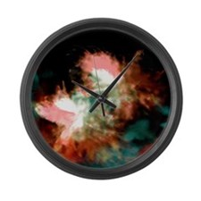 Crystallization Large Wall Clock