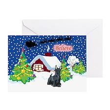 Believe Scottie Greeting Card