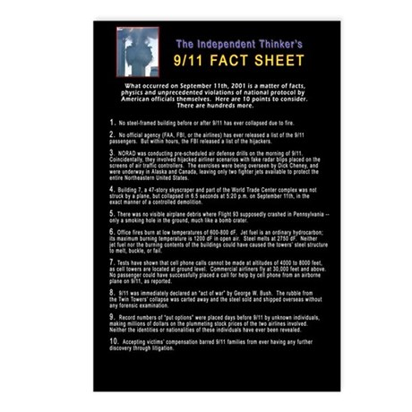 9/11 Conspiracy Part 1 Postcards (Package of 8)
