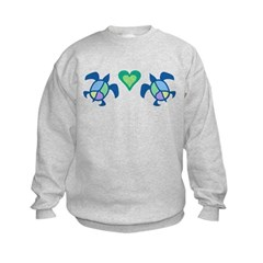 Peace Heart Sea Turtles Sweatshirt