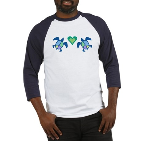 Peace Heart Sea Turtles Baseball Jersey