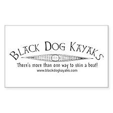 Black Dog Kayak Rectangle Decal