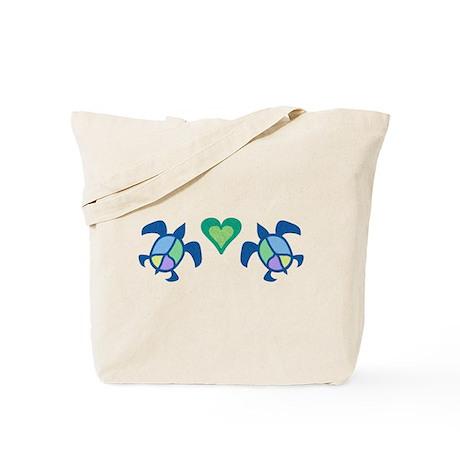 Peace Heart Sea Turtles Tote Bag