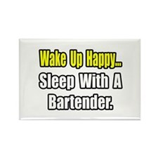 """...Sleep With a Bartender"" Rectangle Magnet"