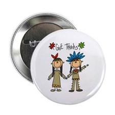 "Native American Thanksgiving 2.25"" Button (10 pack"