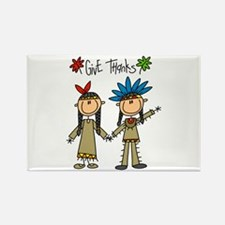 Native American Thanksgiving Rectangle Magnet (100