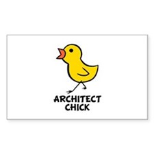 Architect Chick Rectangle Decal