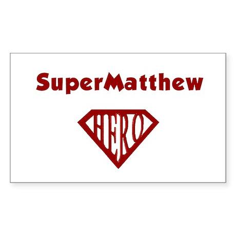 Super Hero Matthew Rectangle Sticker