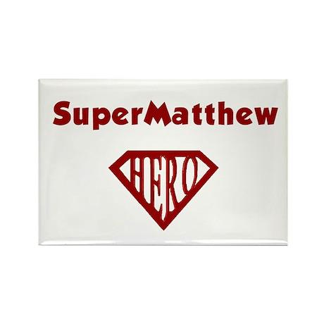 Super Hero Matthew Rectangle Magnet