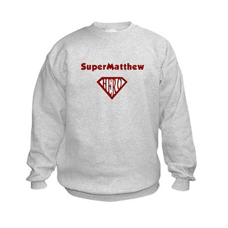 Super Hero Matthew Kids Sweatshirt
