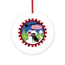 Believe Rottweiler Ornament (Round)