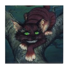 Cheshire Cat Tile Coaster
