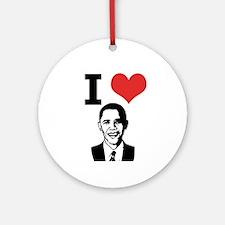 I Love Obama Ornament (Round)