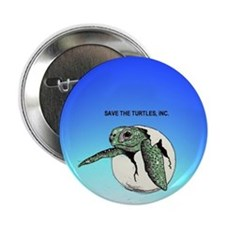 "Save Sea Turtle Babies! 2.25"" Button"