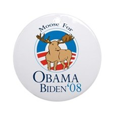 Moose for Obama Biden Ornament (Round)
