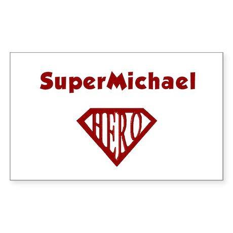 Super Hero Michael Rectangle Sticker