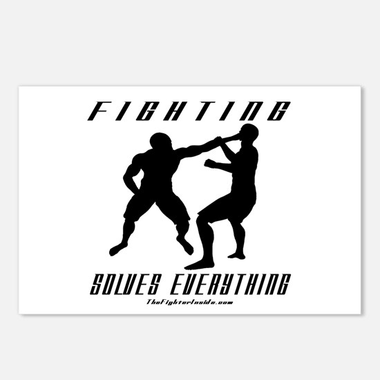 Fighting Solves Everything w/ Postcards (Package o