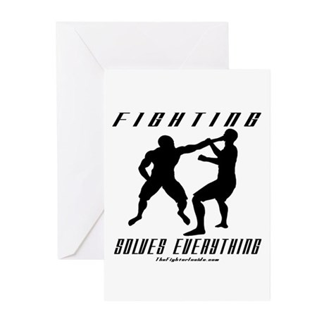 Fighting Solves Everything w/ Greeting Cards (Pk o