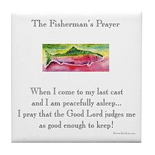 Fishermans Prayer Tile Coaster