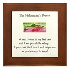 Fisherman's Prayer Framed Tile