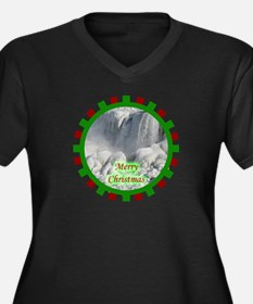Niagara Falls Christmas Women's Plus Size V-Neck D